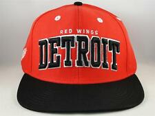 Detroit Red Wings NHL Reebok Retro Snapback Cap Hat Red Black