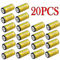 20PCS 16340 Flashlight 85177 CR123A 3.7 Volt Lithium Rechargeable Batteries New