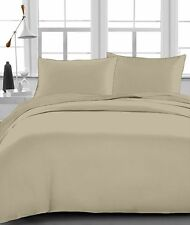 """Fitted Sheet , 1000 TC, Drop 15"""" Inch, Queen Size - Taupe Solid"""