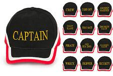 Captain Casquette Baseball Coton Homme Femme Family Inscription Lettrage Red Bla