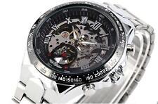 Men Quartz Sport Army AVIATOR Wrist Watch Black New Stainless Steel Waterproof