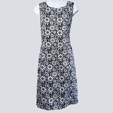 Brooks Brothers 346 Womens Navy White Floral Sleeveless Sheath Dress 10 kg1