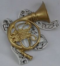 2 pcs. French Horn Polyresin Music Instrument Refrigerator Magnet