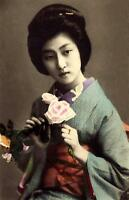 Framed Print – Vintage Traditional Japanese Geisha (Picture Asian Oriental Art)