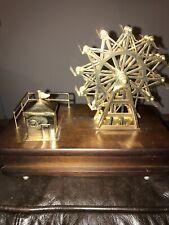 Wooden Music Box With Ferris Wheel 8� Tallx 9 1/2 X 5x 2 1/2�