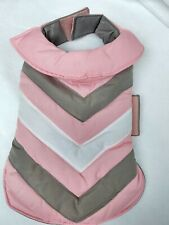 New listing Boots And Barkley Small Dog Puffer Jacket Vest Pink Gray White