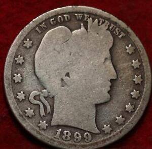 1899-S San Francisco Mint Silver Barber Quarter