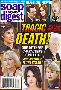Soap Opera Digest Magazine July 18 2006 Bold & the Beautiful Nancy Lee Grahn