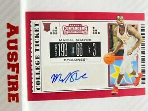 NBA Marial Shayok Philadelphia 76ers 2019-20 Contenders Draft Picks Card #135