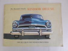 CHRYSLER WINDSOR DELUXE RANGE Car Sales Brochure USA Print Oct 1953 #CS-309