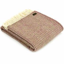 RRP £60 - TWEEDMILL TEXTILES Illusion Raspberry 100% Wool Sofa Bed Blanket Throw