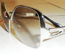 Vintage France Sol Eclair Sunglasses Big Bug Mod Disco Metal Frame Nos