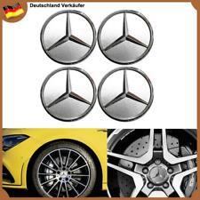 4x 60mm Stern Logo Silber Felgendeckel Nabendeckung Radkappen für Mercedes Benz