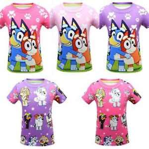 Bluey Cartoon Kids T-shirt Casual Tops Boys Girls Fashion Short sleeve T-shirt