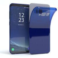 Ultra Slim Cover für Galaxy S8 Case Silikon Hülle Transparent Blau