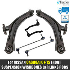 For NISSAN QASHQAI FRONT LOWER WISHBONES ARMS DROP LINKS TRACK ROD ENDS 07> J10
