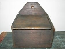 Primitive Wooden Wall Box; Free Shipping
