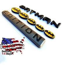 100% BATMAN FAMILY EDITION Emblem Trunk pickup 1500 2500 TRUCK logo DECAL SIGN