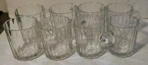 "Lot of 8 Bormioli Rocco Oxford 3.5"" Glass Mug"