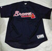 Majestic Atlanta Braves Mesh Baseball Jersey Size XL Vintage MLB