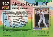547  ALONZO POWELL  SEATTLE MARINERS TOPPS BASEBALL CARD STADIUM CLUB 1992