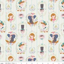 Riley Blake Neverland Peter Pan Cream Portraits Fabric FQ or More 100% Cotton