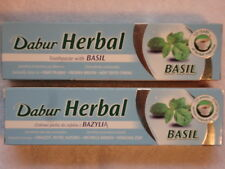 2 DABUR AYURVEDA BASIL HERBAL TOOTHPASTE FOR ORAL HEALTH 310g