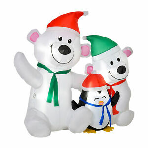 Inflatable Polar Bear Penguin Christmas Winter Outdoor Holiday Party Decoration