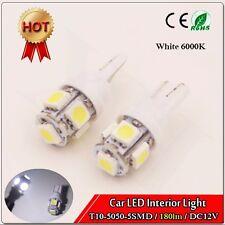 20x T10 5050 5SMD White LED Car Light Wedge Lamp Bulbs Super Bright DC12V 180lm