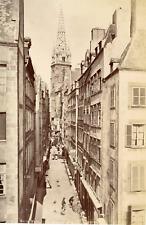 France, Saint-Malo, la grande rue, vue générale  Vintage albumen print,  Tirag