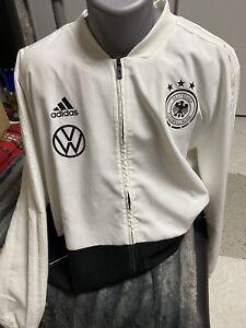 Original Matchworn DFB Deutschland Hoodie  Einlaufjacke VW Sponsoren Gr.XXL Top