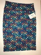 NWT Lularoe Cassie Skirt Large L Green Red Brown Floral