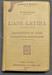 Manuali Hoepli - G. Fumagalli - L'Ape Latina - ed. 1911
