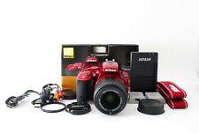 Nikon D5500 24.2MP Red Digital SLR 18-55mm Kit w/box (47875 shots)[Exc+++] #939A