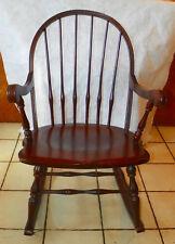 Mahogany Tell City Rocker / Rocking Chair (R243)