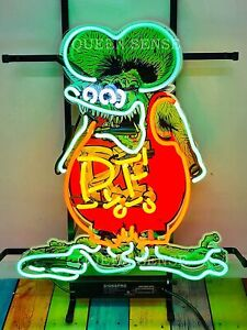 "Rat Fink Rat Rod RF Neon Sign Light Lamp 20"" With HD Vivid Printing Technology"