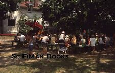 KODACHROME 35mm Slide Camping Trailer Picnic Tables Lots Of People Fashion 1977!