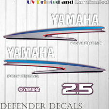 Yamaha 2.5 HP Four Stroke  outboard engine decal sticker reproduction 2.5HP Set