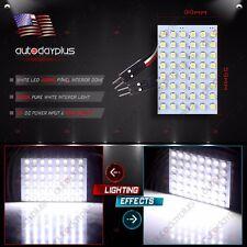 2X Festoon T10 BA9S White LED 48SMD 3528 Panel Interior Dome Map Light Bulb Lamp