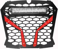 "MODQUAD FRONT GRILL RED POL RZR S WITH 10"" LIGHT RZR-FGLS-XP1KS-RD"