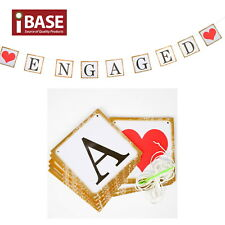 Engaged Cardboard Engagement Decoration Bunting Banner Garland Wedding Party