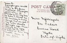 Genealogy Postcard - Ancestor History - Nightingale - Ryde - Isle of Wight U1943