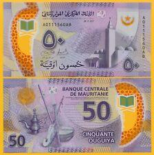 Mauritania 50 Ouguiya p-22 2017 UNC Polymer Banknote