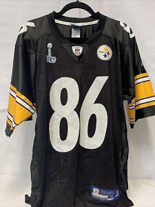 Reebok NFL Pittsburgh Steelers Jersey 86 Ward in Black Size M