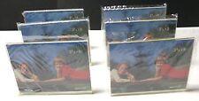 Six 3 1/2 x 5 Horizontal Lucite photo frames