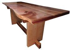 BEAUTIFUL SOLID MAPLE CUSTOM TABLE WITH A LIVE EDGE, HANDMADE