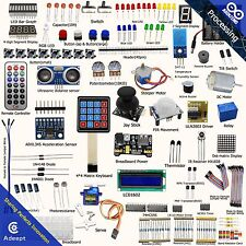 Adeept Ultimate Starter Kit for Arduino UNO R3 LCD1602 Processing Servo NO UNO