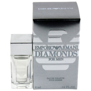 Armani Diamonds Pour Homme by Giorgio Armani Mini EDT Cologne Splash 0.14oz NIB