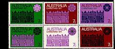 Australia - 1971 - Sc 508a-e,g - Nh - Block of 6