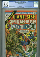 Giant-Size Spider-Man #5 - July, 1975 - CGC 7.0 (Man-Thing)